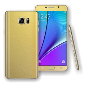 Samsung Galaxy NOTE 5 Gold Matt Metallic Skin Wrap Decal Cover Protector by EasySkinz