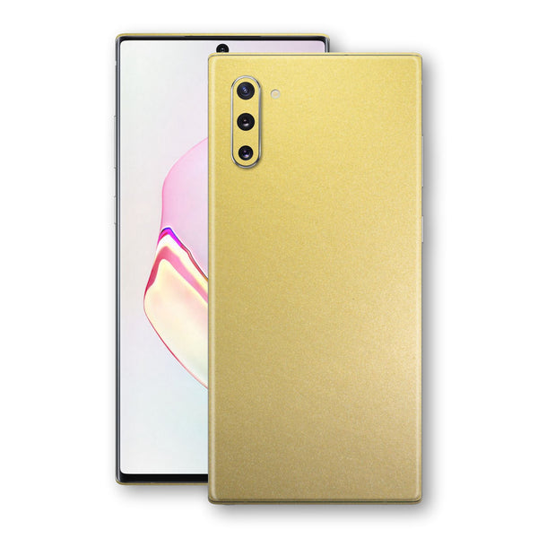 Samsung Galaxy NOTE 10 Gold Matt Metallic Skin, Decal, Wrap, Protector, Cover by EasySkinz | EasySkinz.com