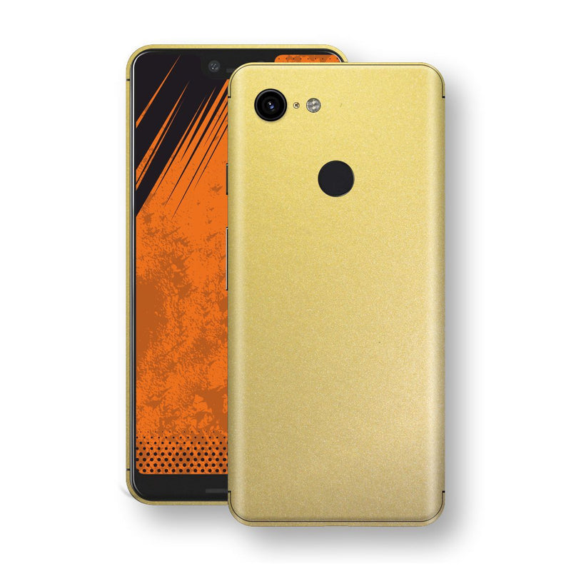 Google Pixel 3 XL Gold Matt Metallic Skin, Decal, Wrap, Protector, Cover by EasySkinz | EasySkinz.com