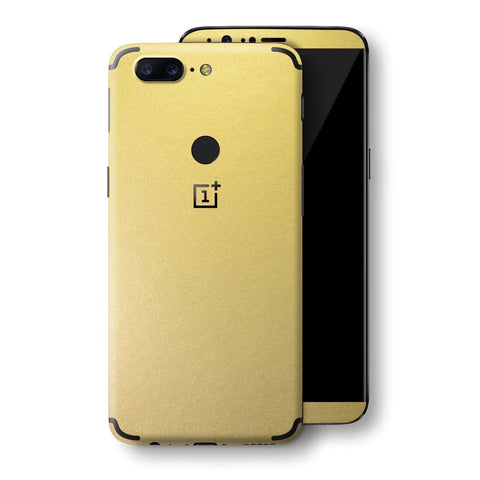 OnePlus 5T Gold Matt Metallic Skin, Decal, Wrap, Protector, Cover by EasySkinz | EasySkinz.com