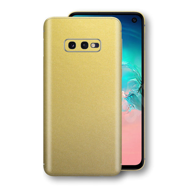 Samsung Galaxy S10e Gold Matt Metallic Skin, Decal, Wrap, Protector, Cover by EasySkinz | EasySkinz.com