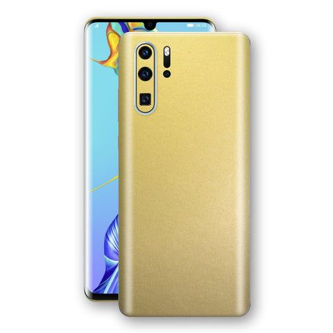 Huawei P30 PRO Gold Matt Metallic Skin, Decal, Wrap, Protector, Cover by EasySkinz | EasySkinz.com