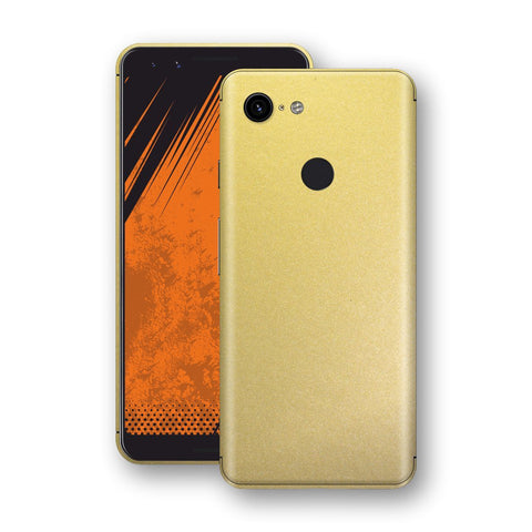 Google Pixel 3 Gold Matt Metallic Skin, Decal, Wrap, Protector, Cover by EasySkinz | EasySkinz.com