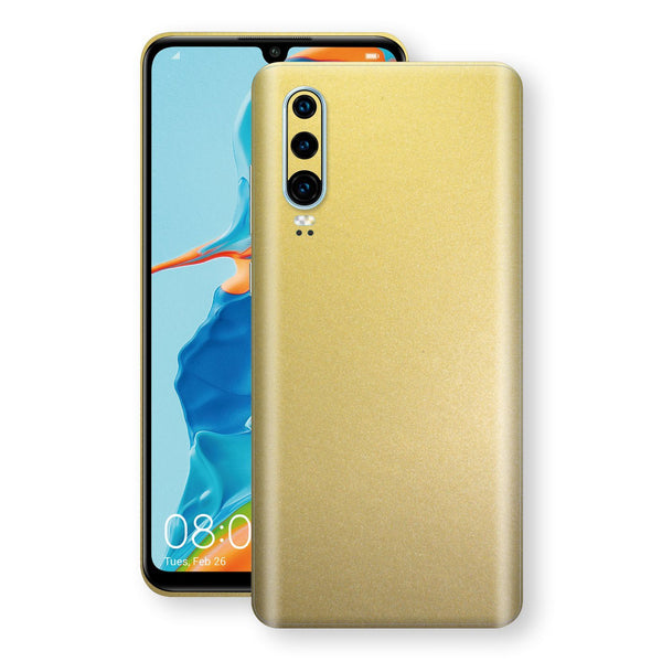 Huawei P30 Gold Matt Metallic Skin, Decal, Wrap, Protector, Cover by EasySkinz | EasySkinz.com