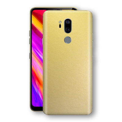 LG G7 ThinQ Gold Matt Metallic Skin, Decal, Wrap, Protector, Cover by EasySkinz | EasySkinz.com