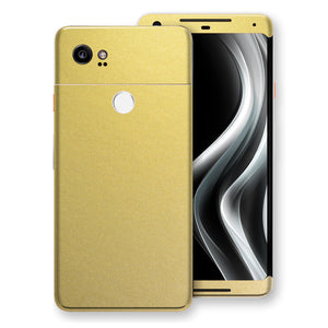 Google Pixel 2 XL Gold Matt Metallic Skin, Decal, Wrap, Protector, Cover by EasySkinz | EasySkinz.com