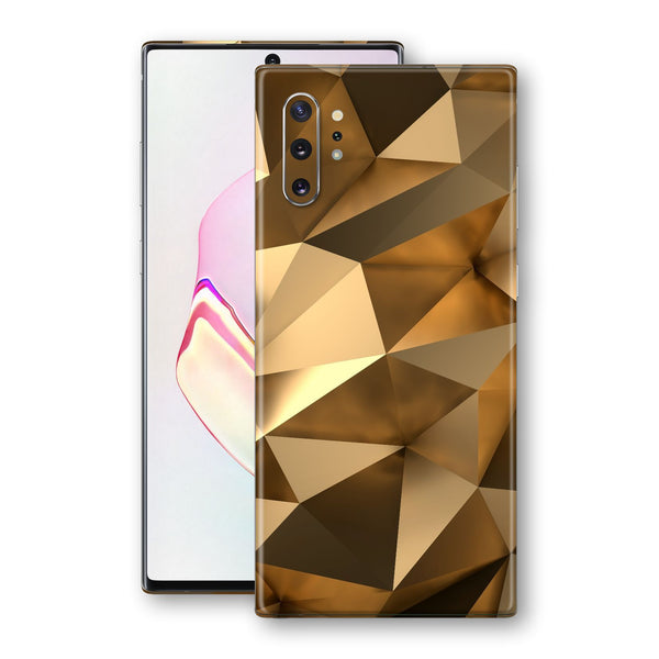 Samsung Galaxy NOTE 10+ PLUS Print Custom Signature Gold Mirror Skin Wrap Decal by EasySkinz