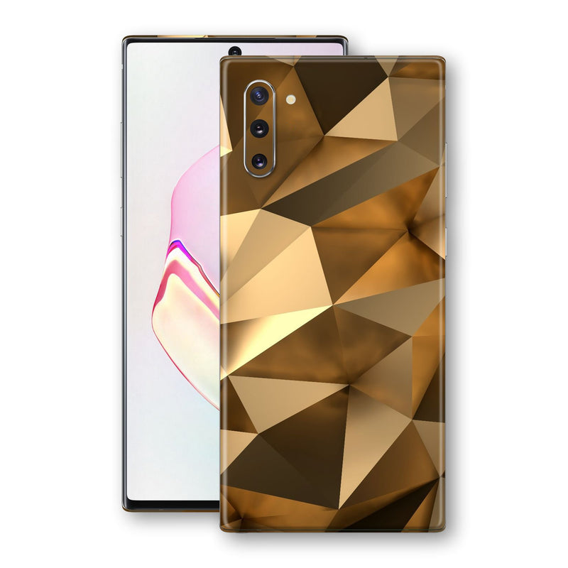 Samsung Galaxy NOTE 10 Print Custom Signature Gold Mirror Skin Wrap Decal by EasySkinz