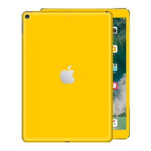 iPad 9.7 inch 2017 Glossy Golden Yellow Skin Wrap Sticker Decal Cover Protector by EasySkinz