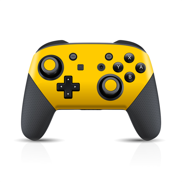 Nintendo Switch Pro CONTROLLER Glossy Golden Yellow Skin Wrap Sticker Decal Cover Protector by EasySkinz