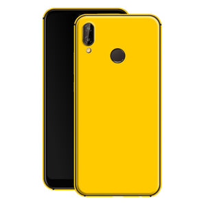 Huawei P20 LITE Golden Yellow Glossy Gloss Finish Skin, Decal, Wrap, Protector, Cover by EasySkinz | EasySkinz.com