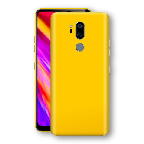 LG G7 ThinQ Golden Yellow Glossy Gloss Finish Skin, Decal, Wrap, Protector, Cover by EasySkinz | EasySkinz.com