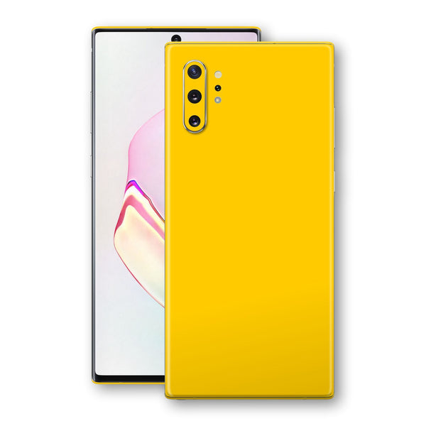 Samsung Galaxy NOTE 10+ PLUS Golden Yellow Glossy Gloss Finish Skin, Decal, Wrap, Protector, Cover by EasySkinz | EasySkinz.com