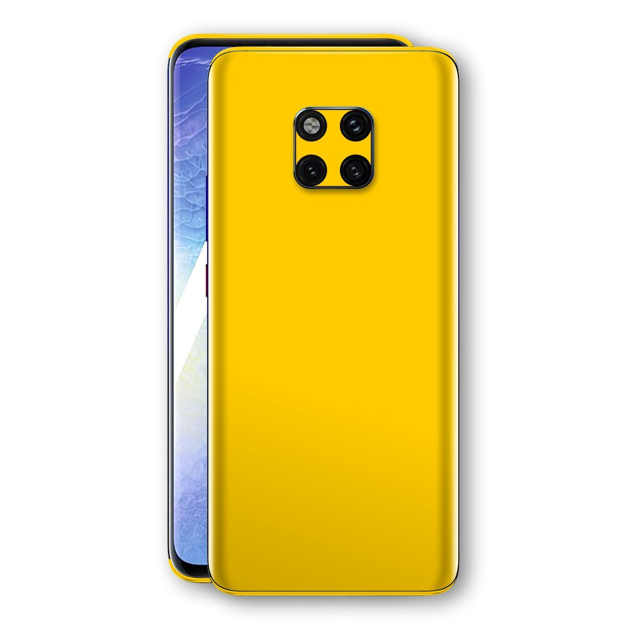 Huawei MATE 20 PRO Golden Yellow Glossy Gloss Finish Skin, Decal, Wrap, Protector, Cover by EasySkinz | EasySkinz.com