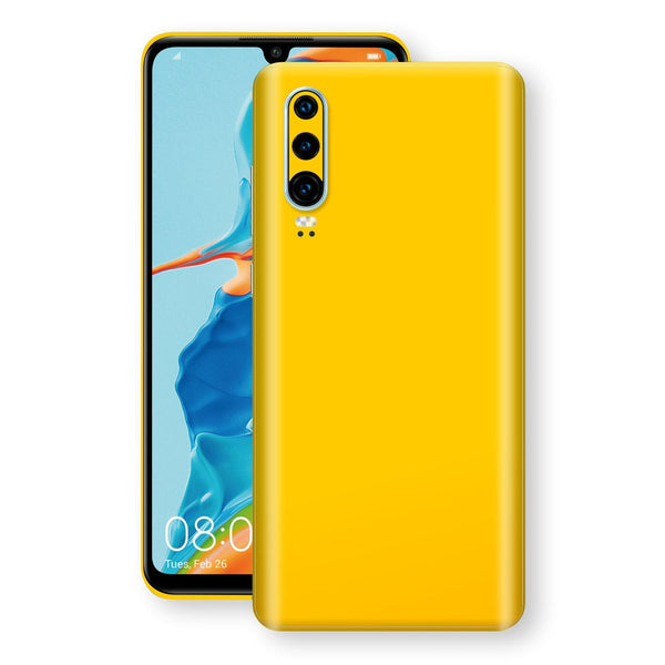 Huawei P30 Golden Yellow Glossy Gloss Finish Skin, Decal, Wrap, Protector, Cover by EasySkinz | EasySkinz.com