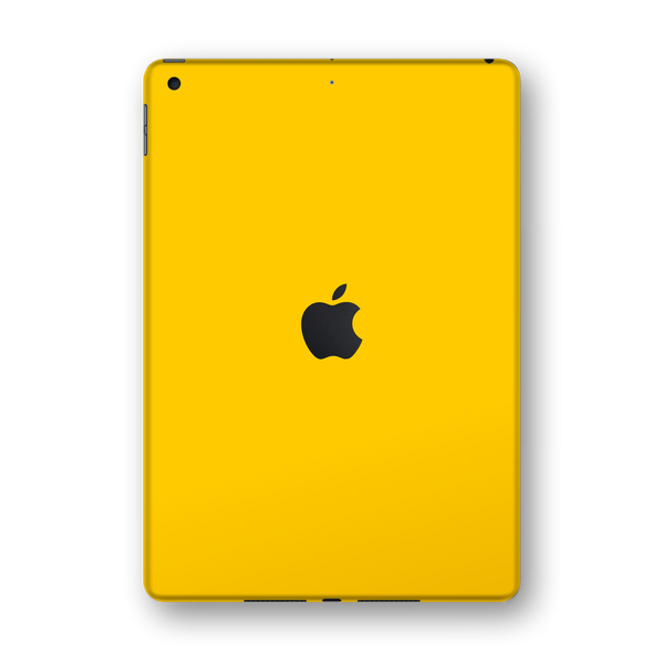 "iPad 10.2"" (7th Gen, 2019) Glossy Golden Yellow Skin Wrap Sticker Decal Cover Protector by EasySkinz"