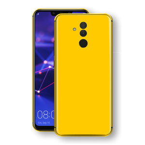 Huawei MATE 20 LITE Golden Yellow Glossy Gloss Finish Skin, Decal, Wrap, Protector, Cover by EasySkinz | EasySkinz.com