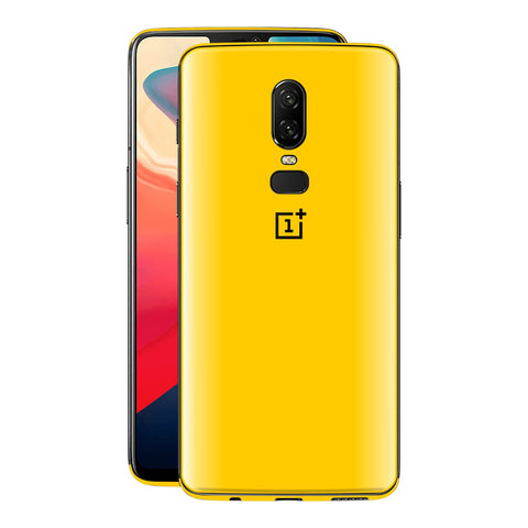 OnePlus 6 Golden Yellow Glossy Gloss Finish Skin, Decal, Wrap, Protector, Cover by EasySkinz | EasySkinz.com