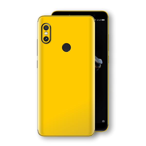 XIAOMI Redmi NOTE 5 Golden Yellow Glossy Gloss Finish Skin, Decal, Wrap, Protector, Cover by EasySkinz | EasySkinz.com