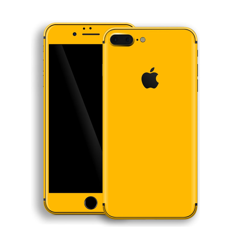 iPhone 8 Plus Golden Yellow Glossy Gloss Finish Skin, Decal, Wrap, Protector, Cover by EasySkinz | EasySkinz.com