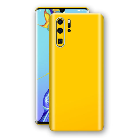 Huawei P30 PRO Golden Yellow Glossy Gloss Finish Skin, Decal, Wrap, Protector, Cover by EasySkinz | EasySkinz.com