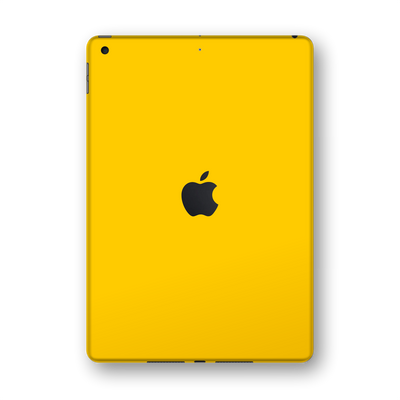 "iPad 10.2"" (8th Gen, 2020) Glossy Golden Yellow Skin Wrap Sticker Decal Cover Protector by EasySkinz"
