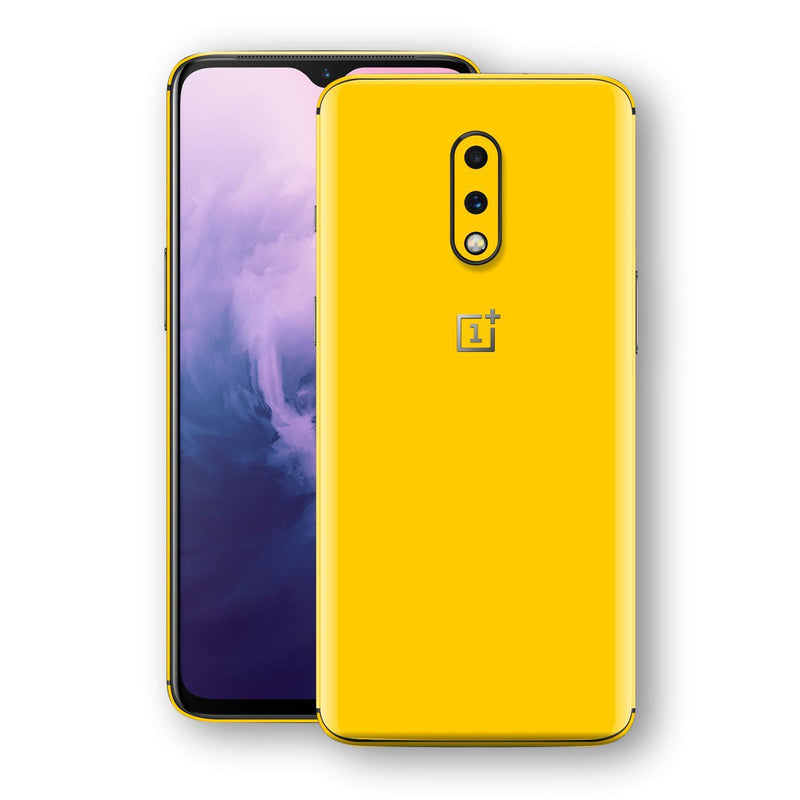 OnePlus 7 Golden Yellow Glossy Gloss Finish Skin, Decal, Wrap, Protector, Cover by EasySkinz | EasySkinz.com