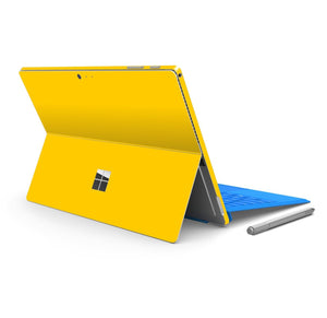 Microsoft Surface PRO 4 Glossy Golden Yellow Skin Wrap Sticker Decal Cover Protector by EasySkinz