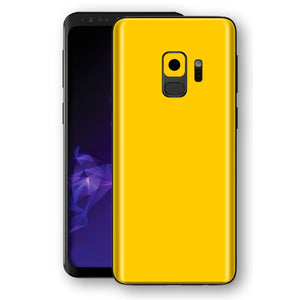Samsung GALAXY S9 Golden Yellow Glossy Gloss Finish Skin, Decal, Wrap, Protector, Cover by EasySkinz | EasySkinz.com