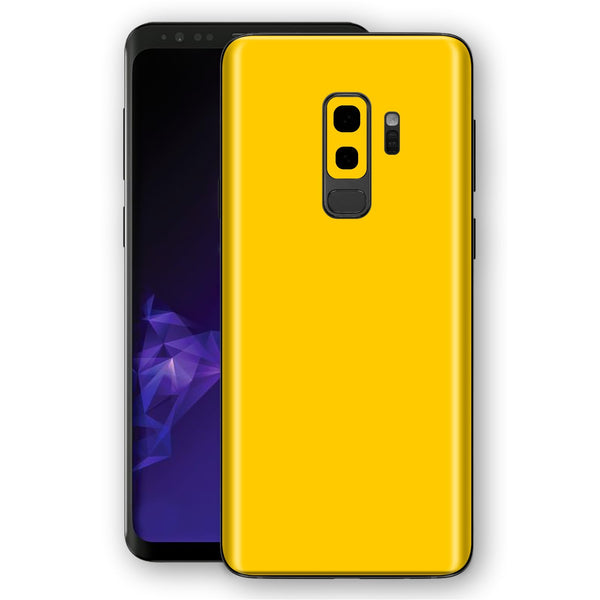 Samsung GALAXY S9+ PLUS Golden Yellow Glossy Gloss Finish Skin, Decal, Wrap, Protector, Cover by EasySkinz | EasySkinz.com