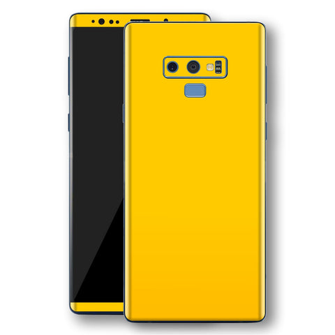 Samsung Galaxy NOTE 9 Golden Yellow Glossy Gloss Finish Skin, Decal, Wrap, Protector, Cover by EasySkinz | EasySkinz.com