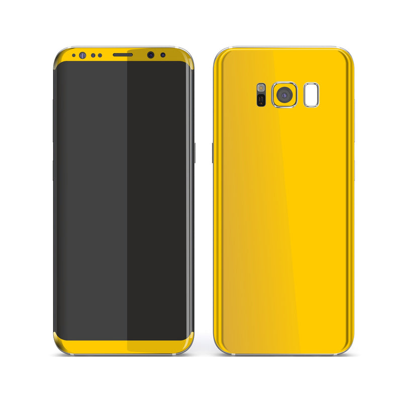 Samsung Galaxy S8 Golden Yellow Glossy Gloss Finish Skin, Decal, Wrap, Protector, Cover by EasySkinz | EasySkinz.com