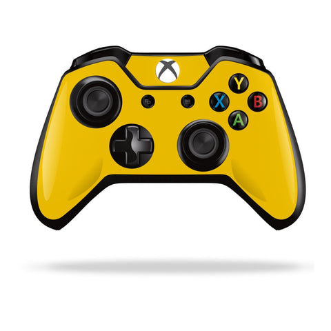 Xbox One Controller Golden Yellow GLOSSY Finish Skin Wrap Sticker Decal Protector Cover by EasySkinz
