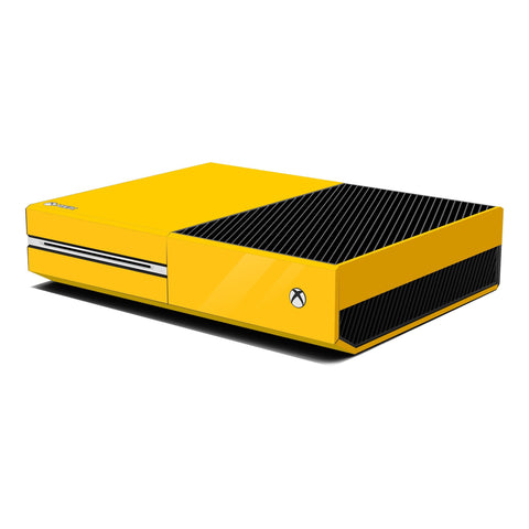 Xbox One Console Golden Yellow GOSSY Skin Wrap Sticker Decal Protector Cover by EasySkinz