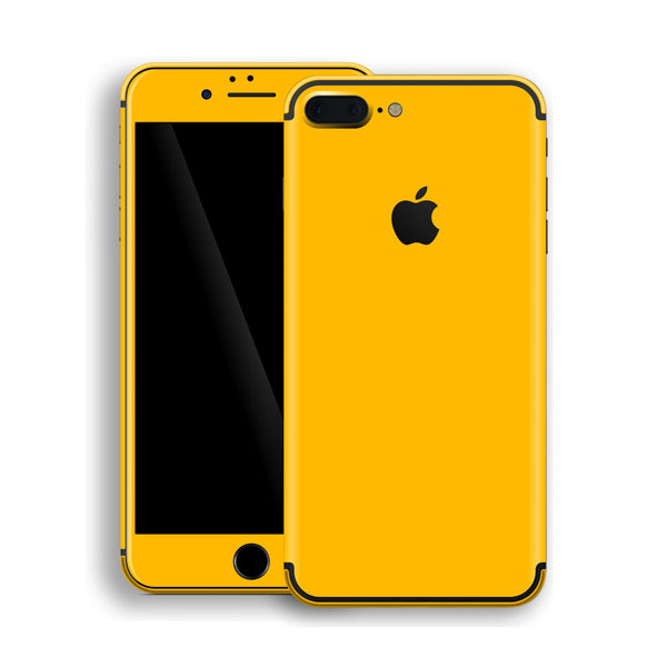 iPhone 7 Plus Golden Yellow Glossy Gloss Finish Skin, Decal, Wrap, Protector, Cover by EasySkinz | EasySkinz.com