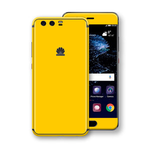 Huawei P10+ PLUS  Golden Yellow Glossy Gloss Finish Skin, Decal, Wrap, Protector, Cover by EasySkinz | EasySkinz.com