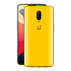 OnePlus 6T Golden Yellow Glossy Gloss Finish Skin, Decal, Wrap, Protector, Cover by EasySkinz | EasySkinz.com