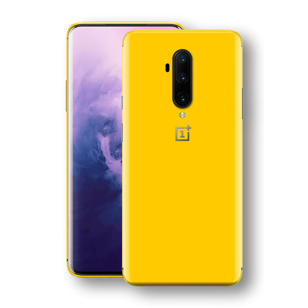 OnePlus 7T PRO Golden Yellow Glossy Gloss Finish Skin, Decal, Wrap, Protector, Cover by EasySkinz | EasySkinz.com