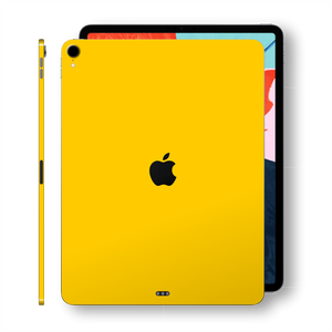 iPad PRO 12.9 inch 3rd Generation 2018 Glossy Golden Yellow Skin Wrap Sticker Decal Cover Protector by EasySkinz