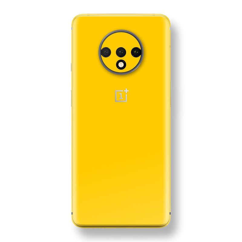 OnePlus 7T Golden Yellow Glossy Gloss Finish Skin, Decal, Wrap, Protector, Cover by EasySkinz | EasySkinz.com