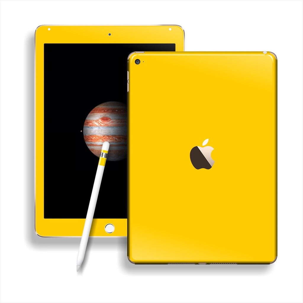 iPad PRO Glossy Golden Yellow Skin Wrap Sticker Decal Cover Protector by EasySkinz