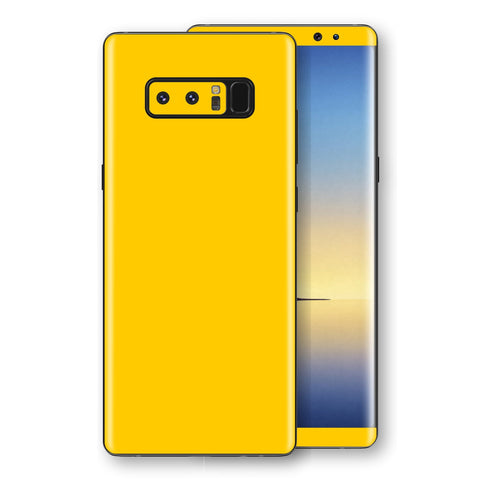 Samsung Galaxy NOTE 8 Golden Yellow Glossy Gloss Finish Skin, Decal, Wrap, Protector, Cover by EasySkinz | EasySkinz.com