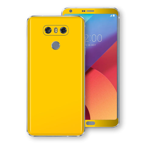 LG G6 Golden Yellow Glossy Gloss Finish Skin, Decal, Wrap, Protector, Cover by EasySkinz | EasySkinz.com