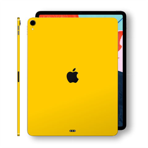 iPad PRO 11-inch 2018 Glossy Golden Yellow Skin Wrap Sticker Decal Cover Protector by EasySkinz