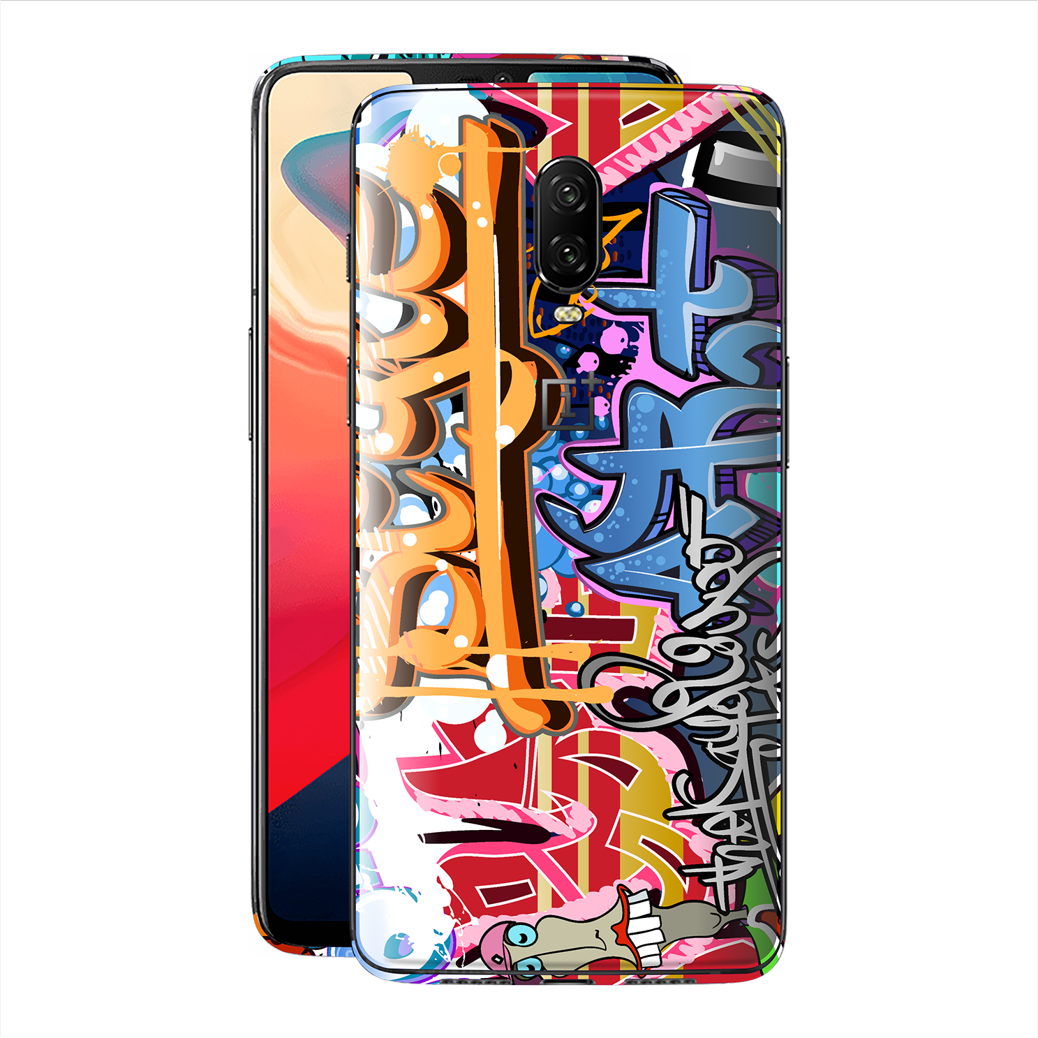OnePlus 6T Print Custom Signature Graffiti Skin Wrap Decal by EasySkinz