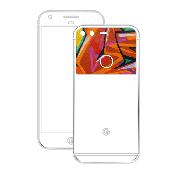 Google Pixel GLOSSY FIERY ORANGE TUNING Metallic Skin