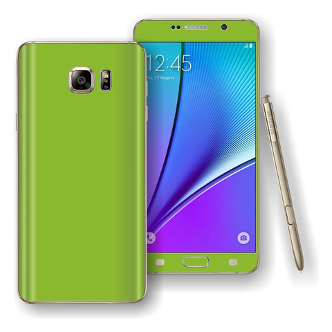 Samsung Galaxy NOTE 5 Green Matt Skin Wrap Decal Cover Protector by EasySkinz