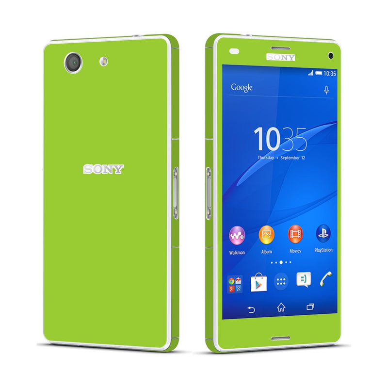 Sony Xperia Z3 COMPACT Green Matt Skin Wrap Sticker Cover Decal Protector By EasySkinz