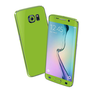 Samsung Galaxy S6 EDGE Green Matt Skin Wrap Sticker Cover Decal Protector by EasySkinz