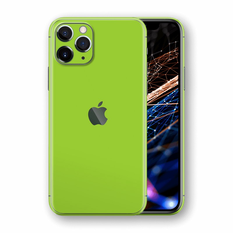 iPhone 11 PRO Green Matt Matte Skin, Wrap, Decal, Protector, Cover by EasySkinz | EasySkinz.com  Edit alt text